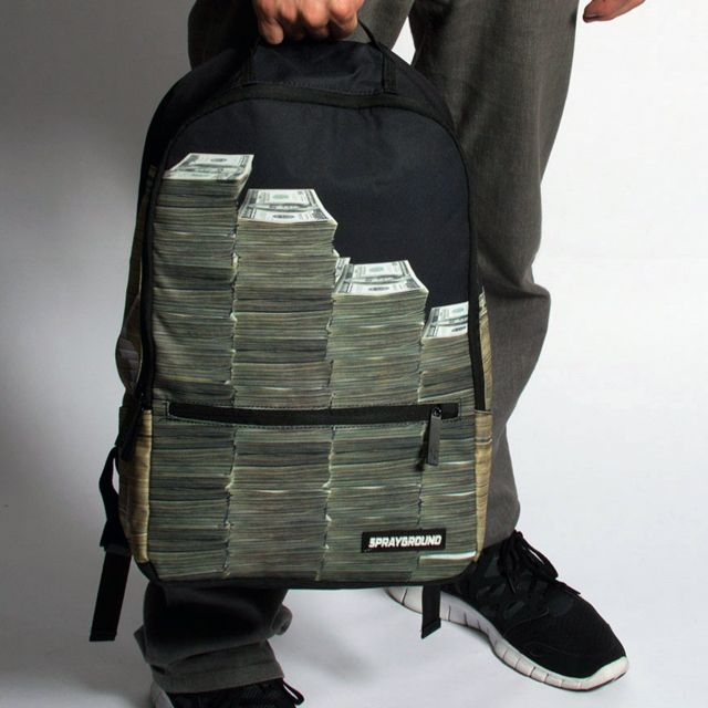 lol want one.  - Money Stacks Backpack