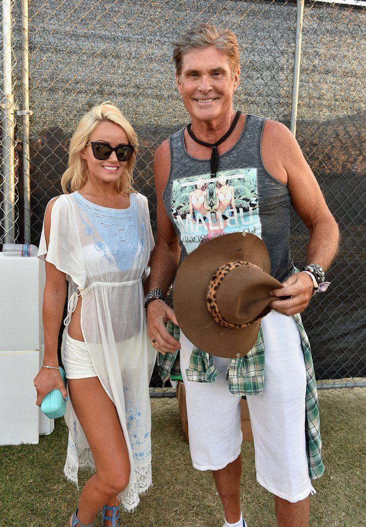 Pin for Later: Seht alle Stars beim Coachella Musikfestival Hayley Roberts und David Hasselhoff
