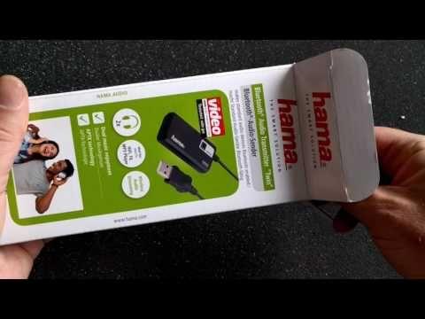 HAMA Bluetooth Transmitter Twin unboxing - YouTube