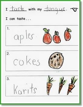 writing journal ideas for kindergarten | My Five Senses - A Kindergarten Writing Journal - KinderLit ...