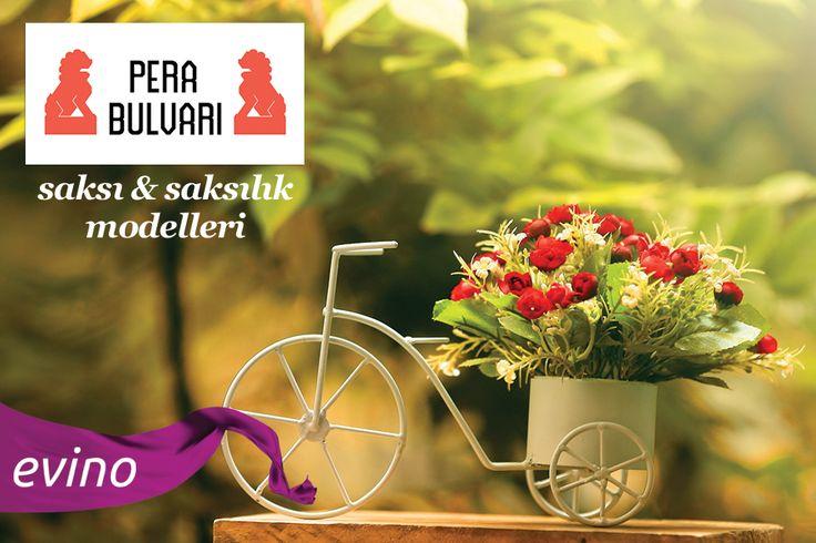 Yaz geldi! Bahçenizde çiçeklere yer açın diye saksı ve saksılık modellerimiz 20 Mayıs'a kadar Pera Bulvarı butiğimizde.  Ürünleri İncele: bit.ly/PeraBulvariBahce