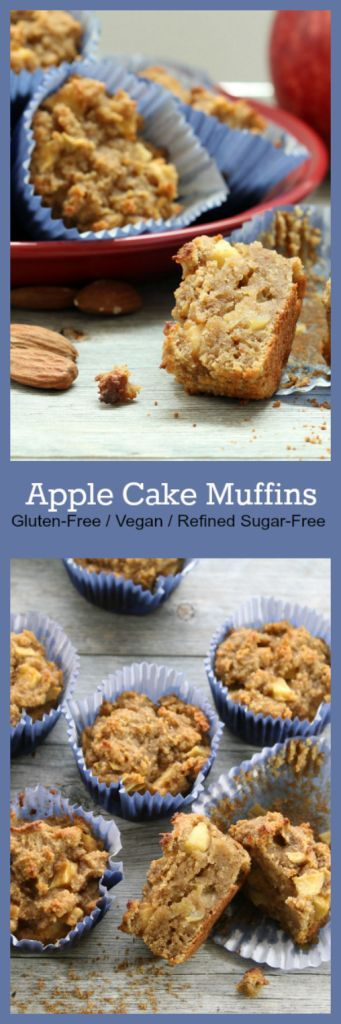 Nutritionicity | Recipe: Apple Cake Muffins (Gluten-Free, Vegan, Refined Sugar-Free) A culinary miracle! Apple Cake Muffins that are gluten-free, vegan, refined sugar-free, and oil free, but still bursting with flavor and richness. Much like their traditional predecessor–German Apfelkuchen–these muffins are moist and delicious. http://www.nutritionicity.com/recipes/recipe-apple-cake-muffins-gluten-free-vegan-refined-sugar-free/