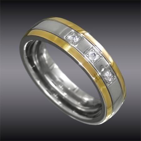 Gyűrűm  - Antiallergén nemesacél gyűrű, cirkónia kővel