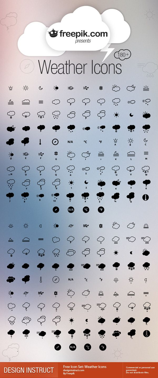 Free Icon Set: Weather Icons - Design Instruct
