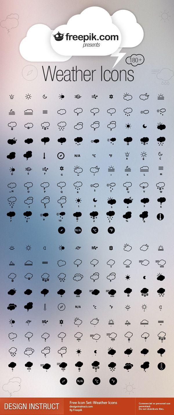 Free Icon Set: Weather Icons - Design Instruct