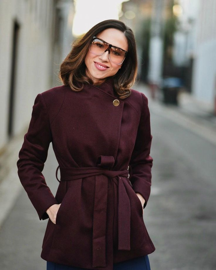 Berry wool Jacket via @CarmelJenkin from Draw Dress Dream #acstyle