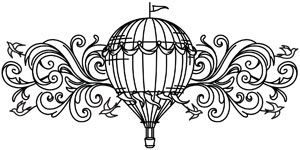 Dream higher with this elegant hot air balloon design. Downloads as a PDF. Use pattern transfer paper to trace design for hand-stitching.
