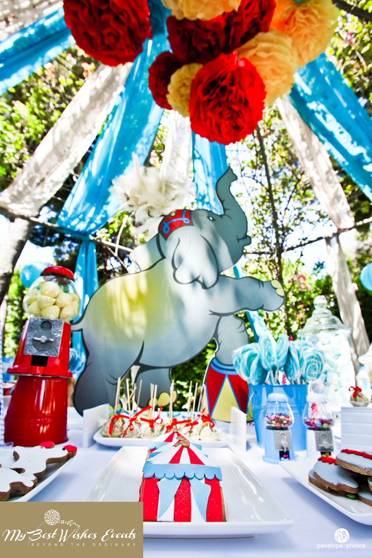 Circus baptism candy bar  http://www.facebook.com/MyBestWishesEvents