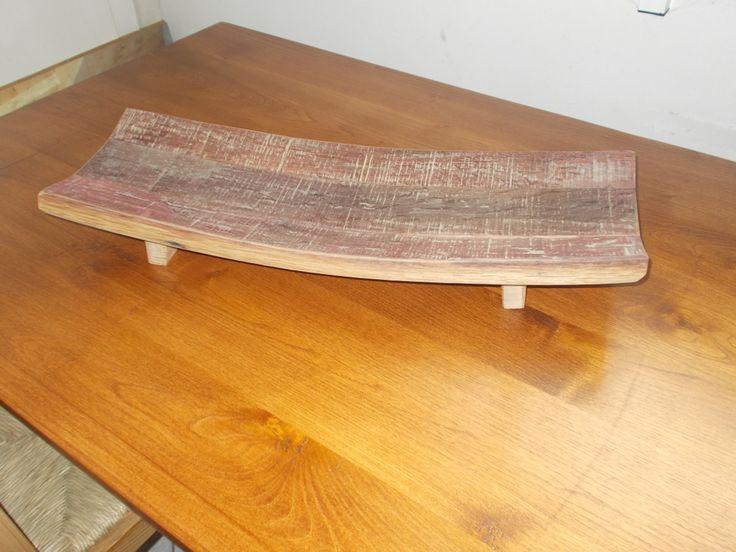 1618 - Centrotavola da doghe di #botti #barrique per arredamento rustico prodotti da Briganti srl - 0547 310171