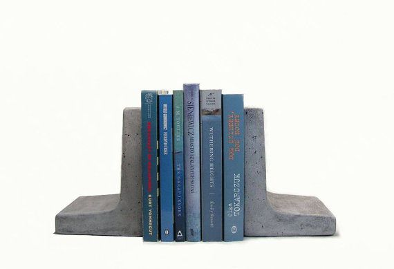 RoughFusion – Modern Concrete Bookends