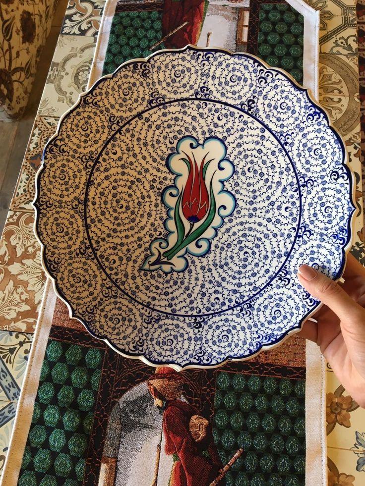 TULIP TURKISH CERAMIC PLATE, 30 cm