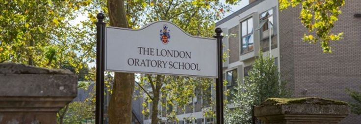 london oratory school sign board