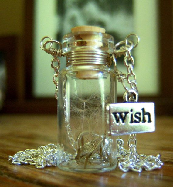 """I love the dandelion seeds in a bottle!  I would leave off the """"wish"""" charm though, seems redundant. :)"""