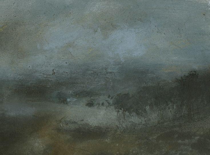Nicholas Herbert, British Artist - Landscape L964, Sharpenhoe Series, View From the Escarpment, The Chiltern Hills, contemporary mixed media painting