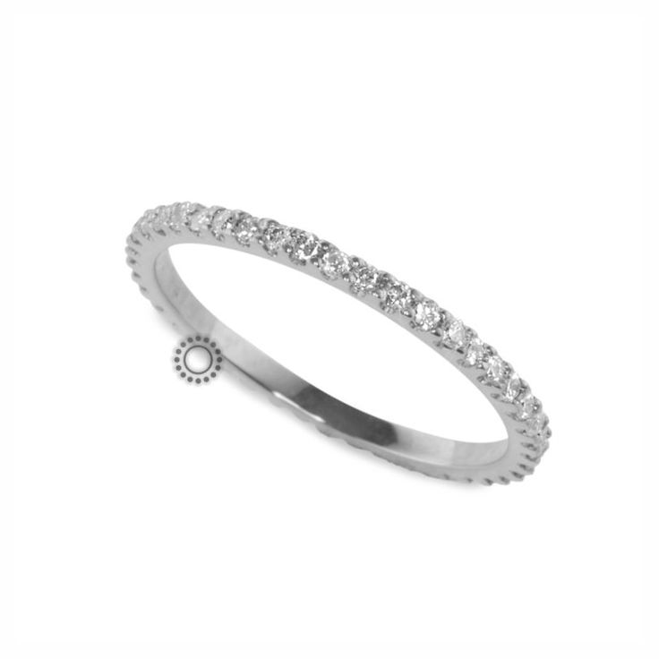 Λεπτό ολόβερο σειρέ δαχτυλίδι με διαμάντια από λευκόχρυσο Κ18 | Δαχτυλίδια με διαμάντια στο e-shop ΤΣΑΛΔΑΡΗΣ στο Χαλάνδρι #δαχτυλίδι #διαμάντια #σειρέ #rings #diamonds