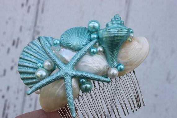 Turquoise Seashell and Starfish Bridal by CoastalDreamWeddings