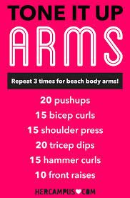 arm workouts for women at home without equipment - Google Search