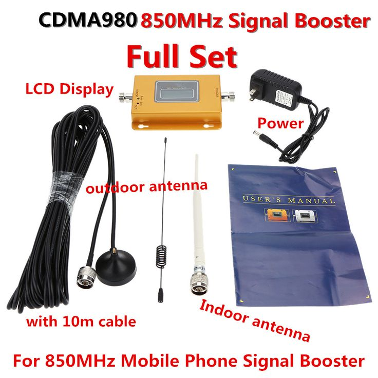 Full Set 2G GSM 850Mhz Repeater 70dB CDMA Mobile Phone Signal Booster GSM Repetidor 850 Antenna LTE Cell Phone Signal Amplifier  #Affiliate