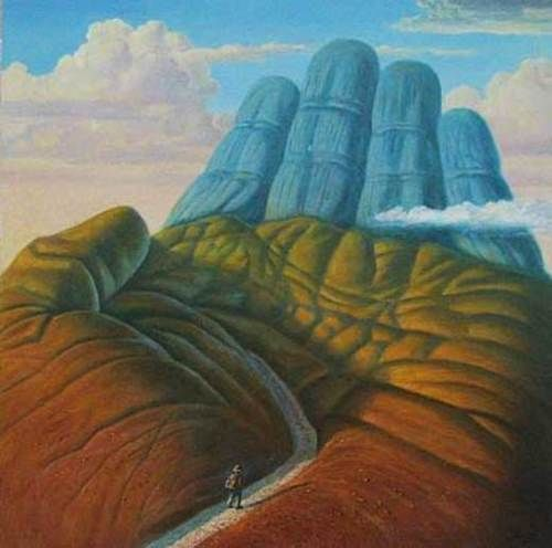 surrealist lesson- Great example for my surreal hands!