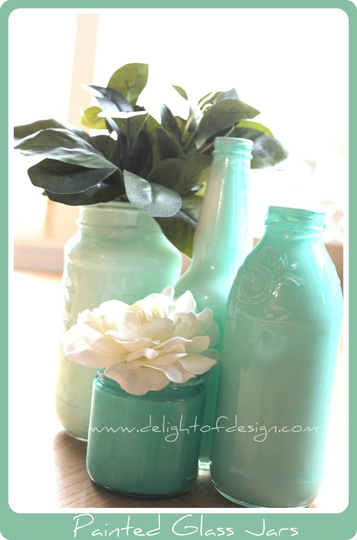 Tips for painting your own painted glass jars for Paint bottles with tips