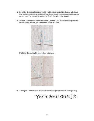 Free Seahorse Pillow Pattern   matsutake