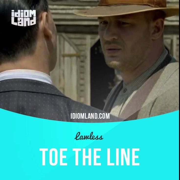 """""""Toe the line"""" means """"to do what you are ordered or expected to do"""". Text in the clip: - I'm the one who's going to make your life real difficult from now on if you don't toe the line, country boy. - Don't you ever touch me again. - All right, all right. #idiom #idioms #slang #english #saying #sayings #phrase #phrases #expression #expressions #learnenglish #studyenglish #language #vocabulary #efl #esl #tesl #tefl #toefl #ielts #toetheline #tomhardy #lawless"""