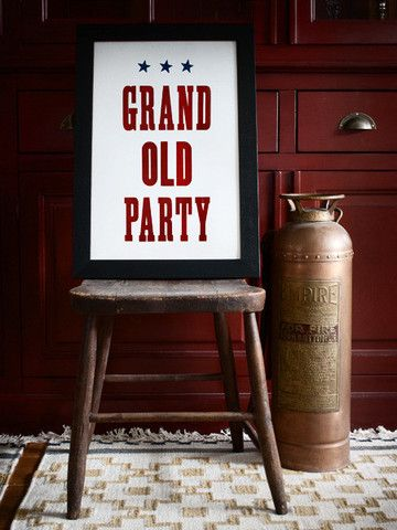 Grand Old Party // Southern Letterpress Print on Cotton // $42