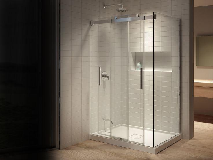 Les 25 meilleures id es de la cat gorie sans cadre des for Porte de douche sans cadre