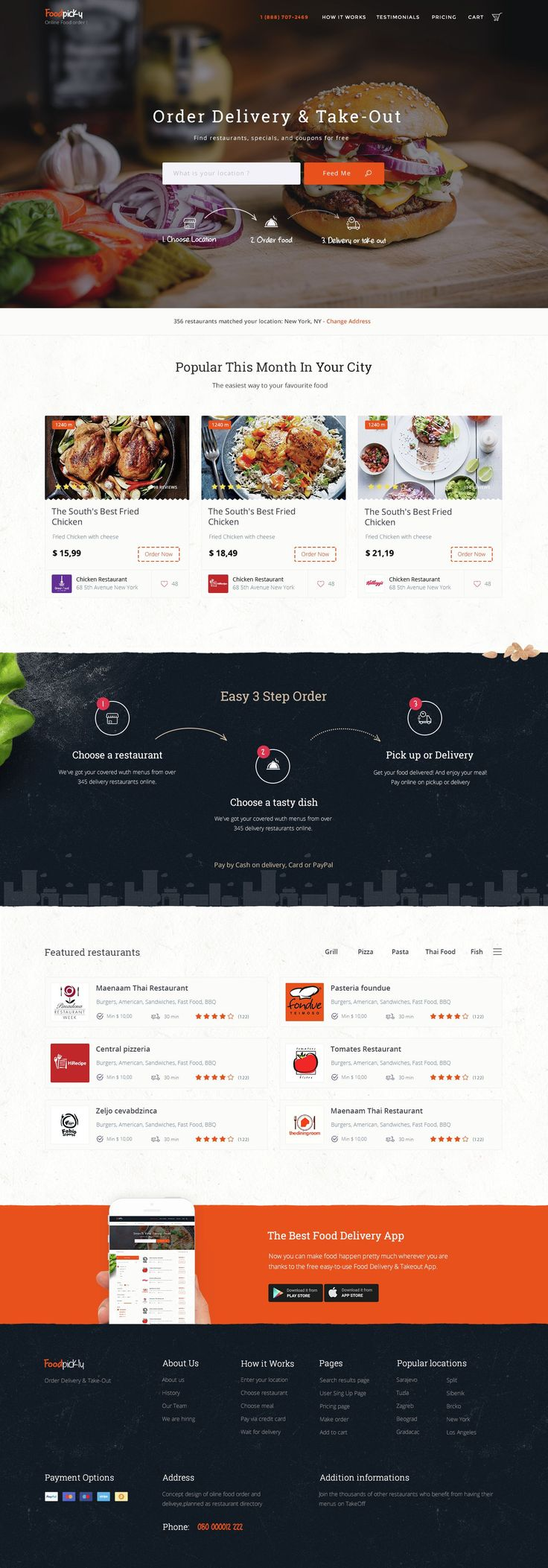 Foodpicky,online food ordering system for local restaurants. Browse local #restaurants delivery, menus, ratings and reviews, coupons and more. #website #template