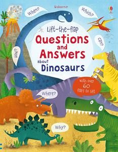 NEW!! This delightful book answers all kinds of dinosaur questions that young children ask. Lift the flaps to discover when, where, how, what, which, why, yes or no. I'm so excited for this new book! Sturdy board book. Great gift idea ;) #literacy #lovetoread