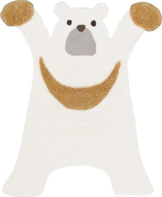 かわいい動物たちのふわふわラグマット リオン・ベアー 120×150cm プレーベル 家具のホンダ インターネット本店 ラグ・カーペット・じゅうたん・テーブルクロス・PSマットの通販サイト