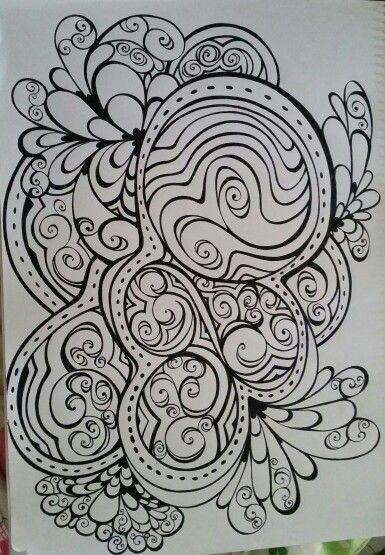 Zentangled Colouring In