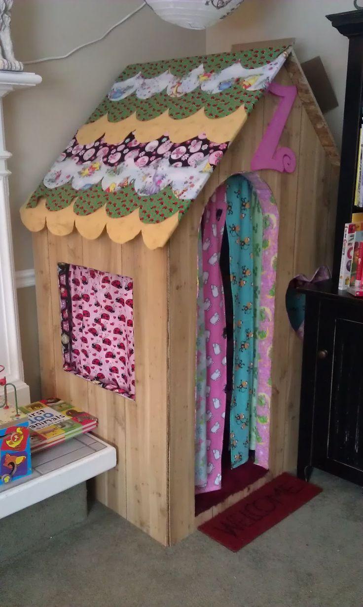 Indoor playhouse cute diy pinterest for Diy childrens indoor playhouse
