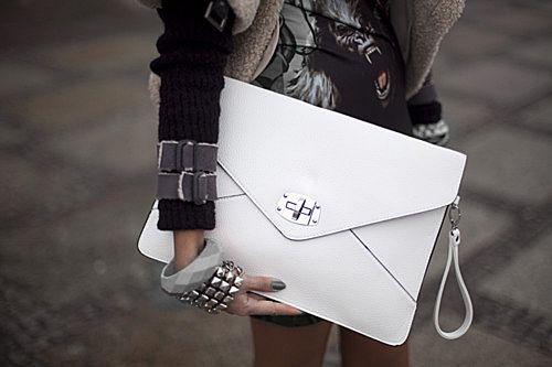 because purses/clutches should resemble briefcases