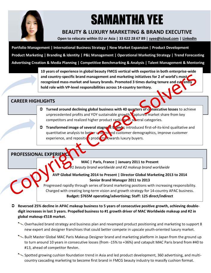 Beauty Executive Resume Portfolio Management Cover Letter For Resume Executive Resume