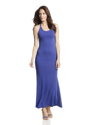 87% OFF JOSA Tulum Women's Maxi Dress with Crisscross Straps (Cobalt Blue)