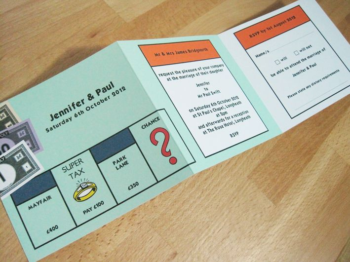 Orange Wedding Invitation as beautiful invitations template