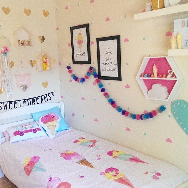 kmart styling. Girls bedroom.