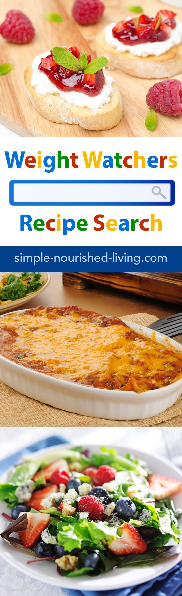 Why search the entire Internet when you can simply search the best hand-picked Weight Watchers friendly websites (SkinnyTaste, SimpleNourishedLiving, HungryGirl, SnackGirl, DrizzleMeSkinny, SlenderKitchen, LaaLoosh, SkinnyKitchen, EmilyBites, MealPlanningMommies, EatYourselfSkinny, DashingDish and more) to find all the easy healthy recipes you want!