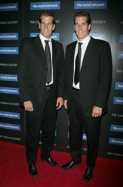 Thee Real owners of Facebook Cameron and Tyler Winklevoss | Cameron Winklevoss and Tyler Winklevoss at the Cinema Society ...