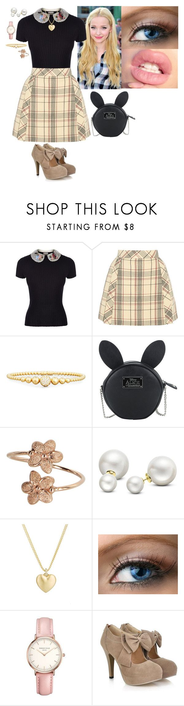 """Untitled #239"" by stinze on Polyvore featuring RED Valentino, Delpozo, Rivière, Disney, Allurez, Finn and Topshop"