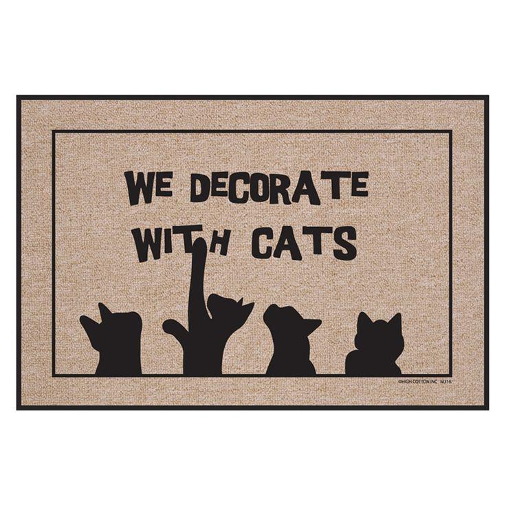 High Cotton We Decorate with Cats Indoor/Outdoor Door Mat