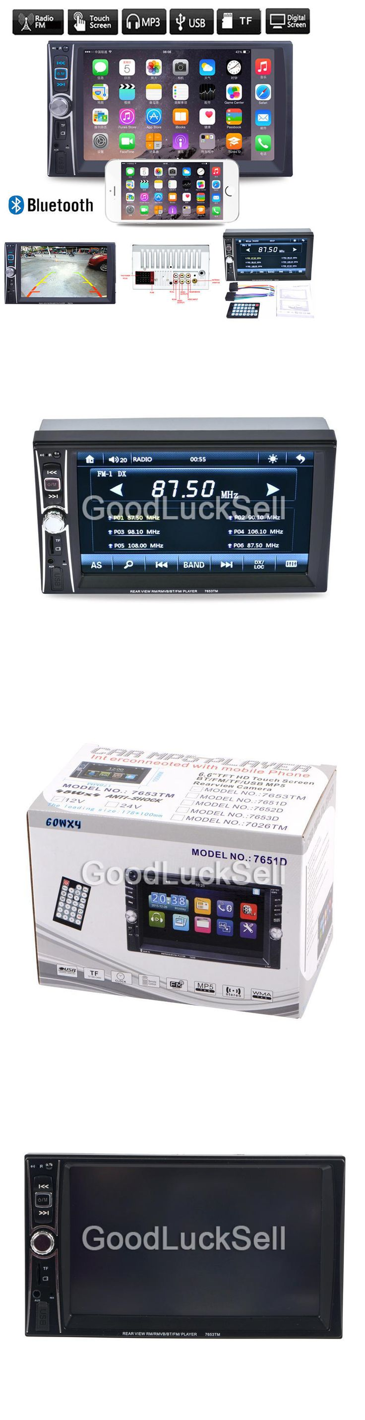 Car Audio In-Dash Units: Car Head Unit Stereo Mp3 Player Double 2 Din Bluetooth Touch Fm Radio Usb Tf Aux -> BUY IT NOW ONLY: $66 on eBay!