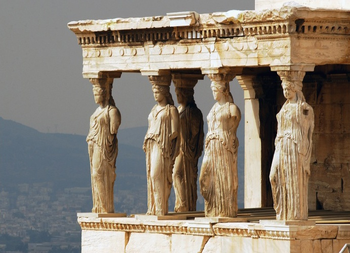 Caryatid Porch of the Erechtheion in Athens | For the ...