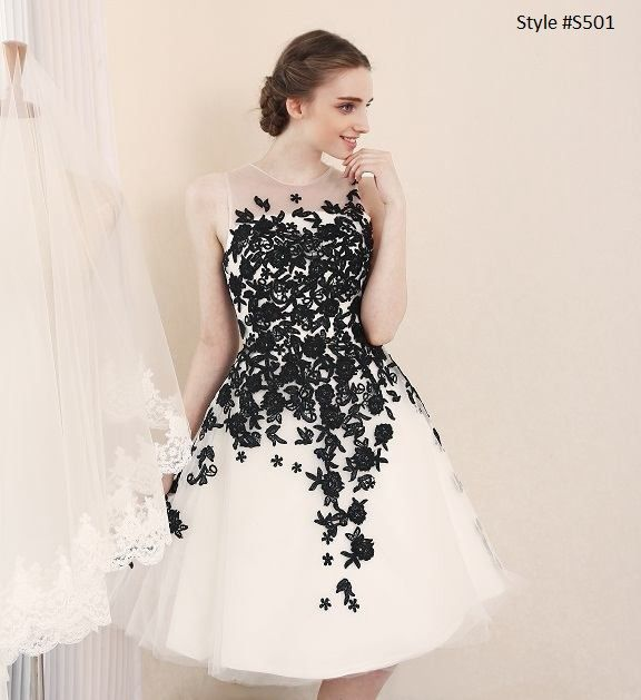 Fabulous Darius Cordell Fashion Ltd u producing short black and white wedding reception dresses