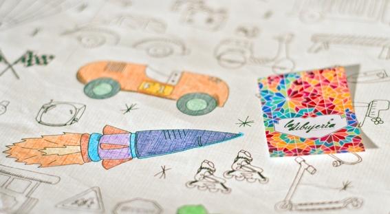 Individuales de tela de papel, para pintar con marcadores (y usar, lavar y volver a colorear!)