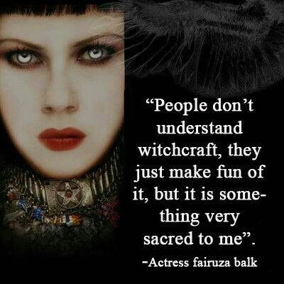 "☆ "" People don't understand witchcraft, they just make fun of it, but it is some-thing very sacred to me."" ~Actress Fairuza Balk ☆"