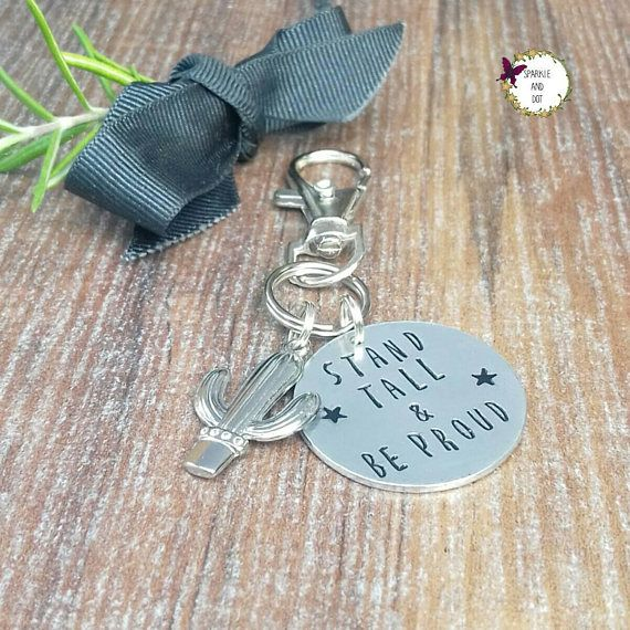 Stand Tall Be Proud Gifts, Cactus Bag Charm, Stocking Filler Gifts For Teenage Girls,