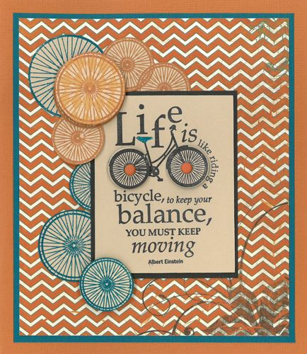Stamp-it Australia: 4966E Life is a Bicycle, siset109 Wheels - Card by Susan
