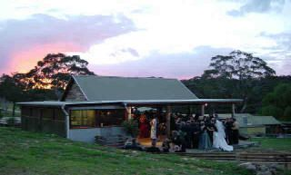 Perfect end to a Megalong Country Wedding